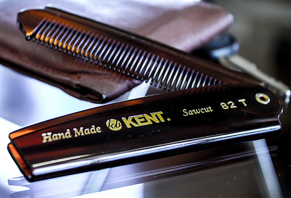 Kent Brushes 82T Handmade Men's Fine Toothed Folding Pocket Comb