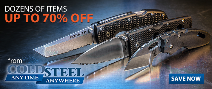 Up to 70% Off Cold Steel