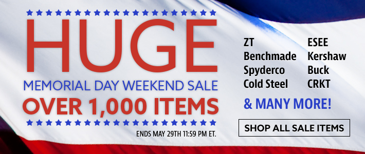 Huge Memorial Day Weekend Sale