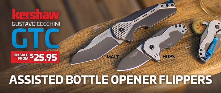 Kershaw GTC Assisted Bottle Opener Flippers