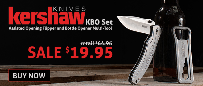 Kershaw KBO Set, Assisted Opening Flipper and Bottle Opener Multi-Tool