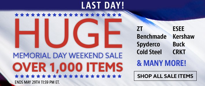 Last Day! Huge Memorial Day Weekend Sale