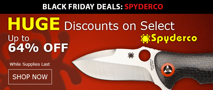 Black Friday Week Spyderco Sale