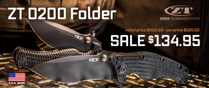 Zero Tolerance Model 0200 Folding Knife