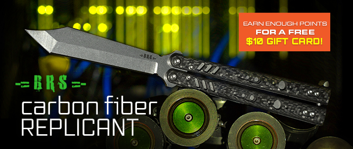 BRS Bladerunners Systems Carbon Fiber Replicant Balisong