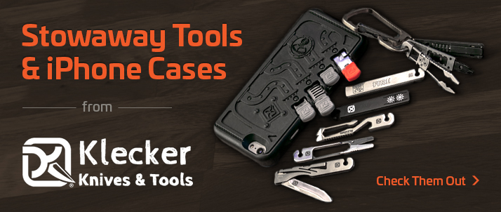 Klecker Stowaway Tools and iPhone Cases