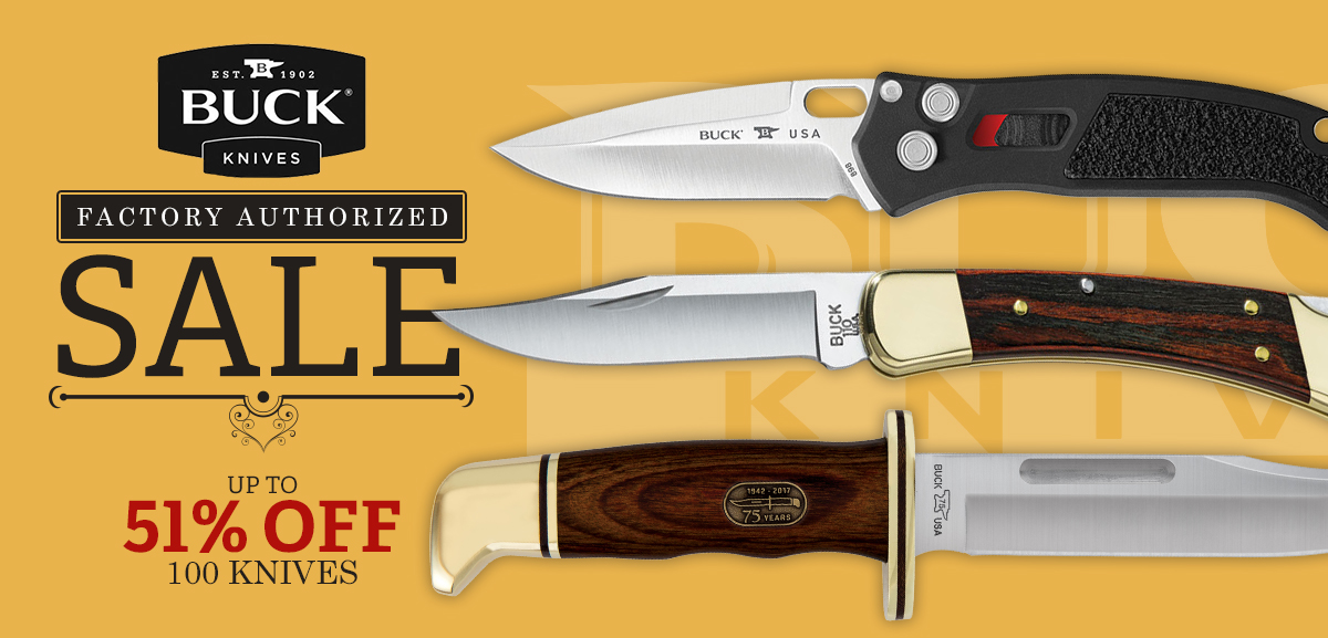 Buck Knives Factory Authorized Sale