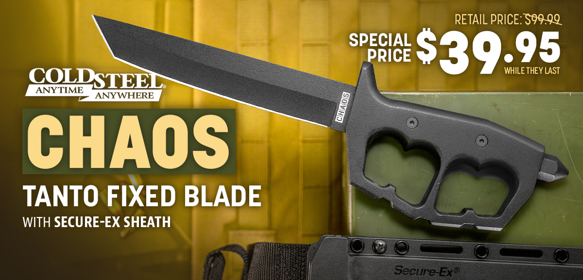 Cold Steel Chaos Tanto Trench Knife