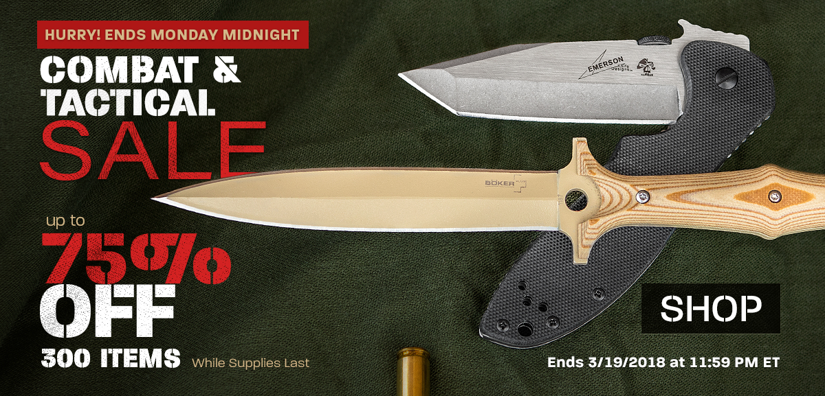 Combat and Tactical Sale Last Chance