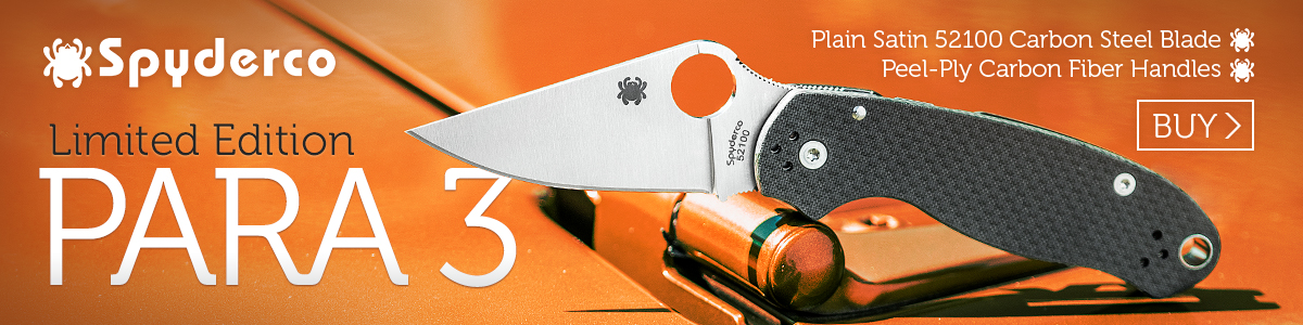 Spyderco Para 3 Limited Edition