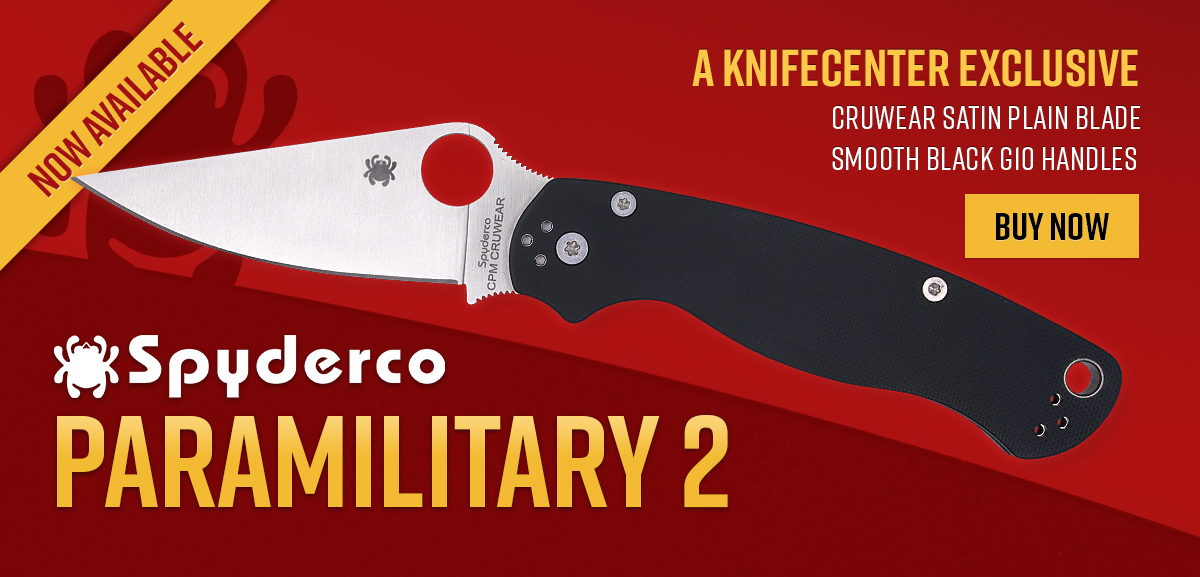 Exclusive Spyderco Paramilitary 2 Folding Knife