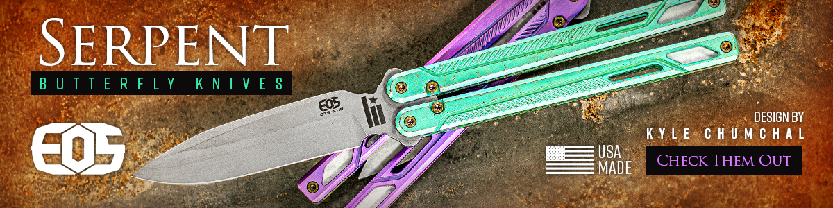 EOS Serpent Balisong Butterfly Knives