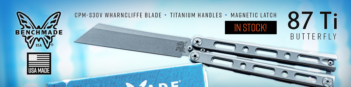 Benchmade 87 Ti Butterfly Knife