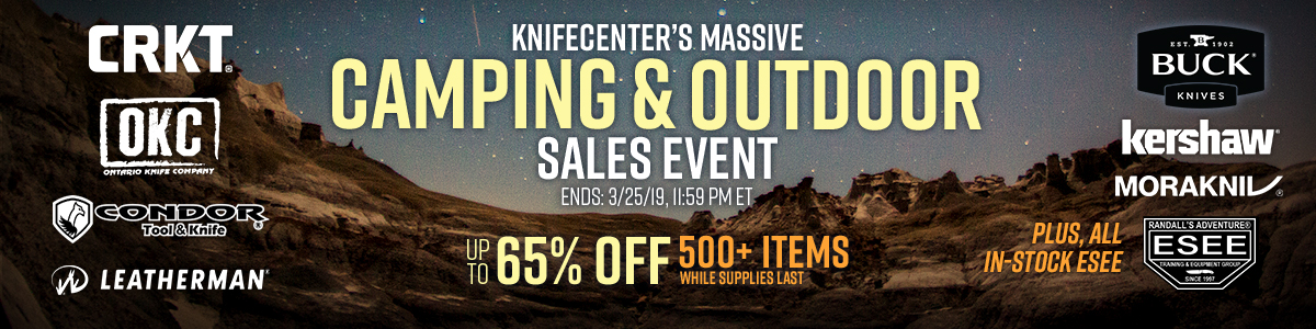 KnifeCenter's Massive Camping and Outdoor Sales Event