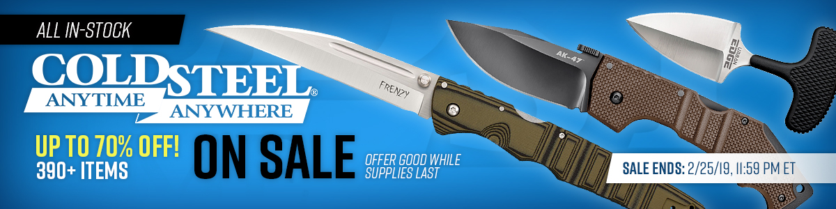All In-Stock Cold Steel On Sale!