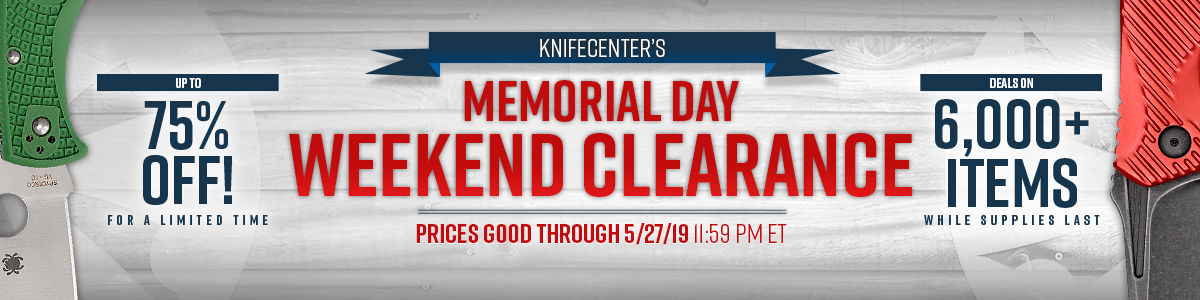 2019 Memorial Day Weekend Sale