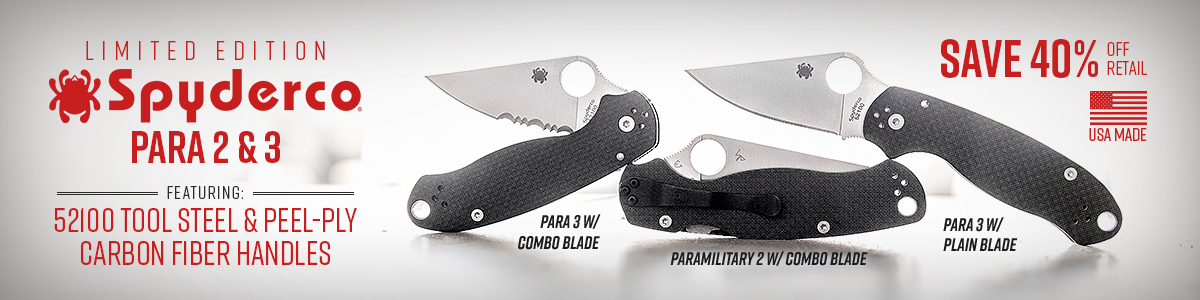 Spyderco Limited Edition Paramilitary 2 and Para 3