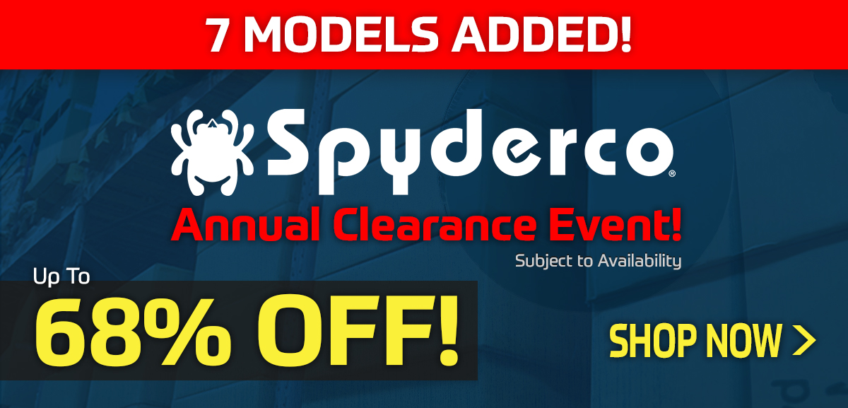 Spyderco Annual Clearance Event 2