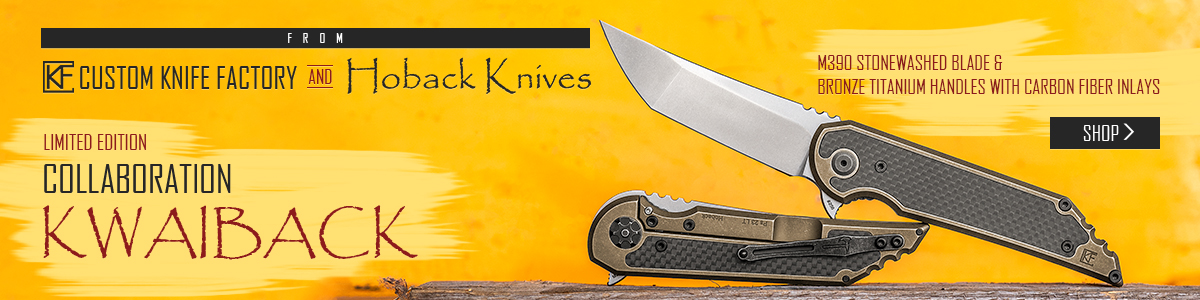 Custom Knife Factory Hoback Kwaiback Collaboration