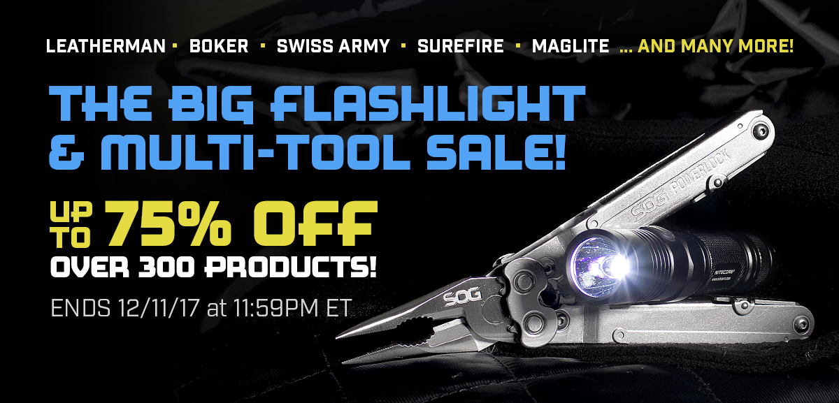 The Big Flashlight and Multi-Tool Sale