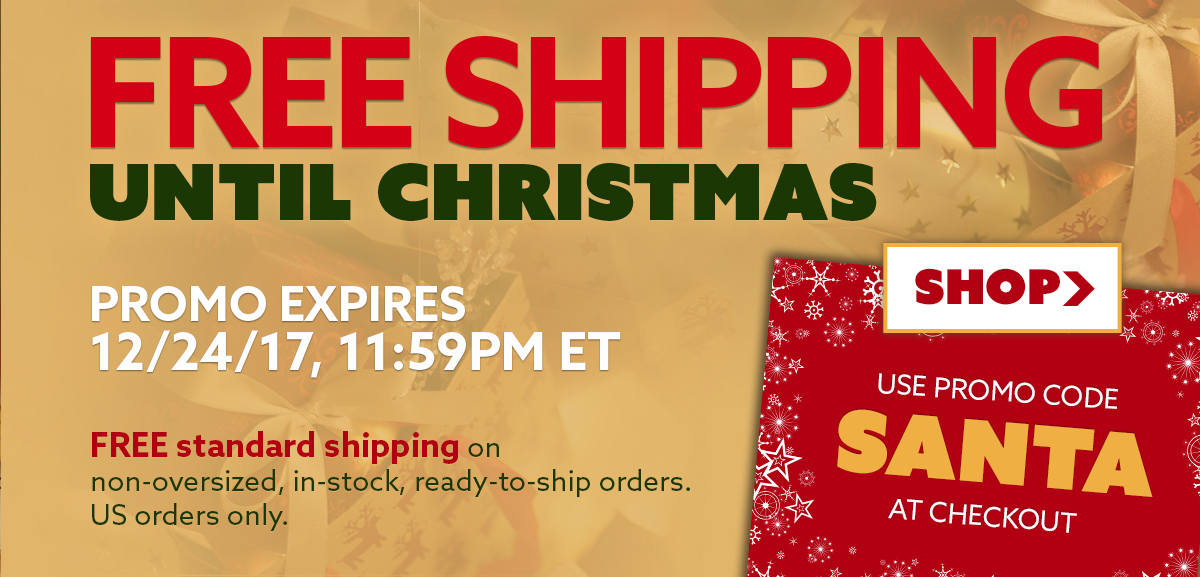 Free Shipping Until Christmas
