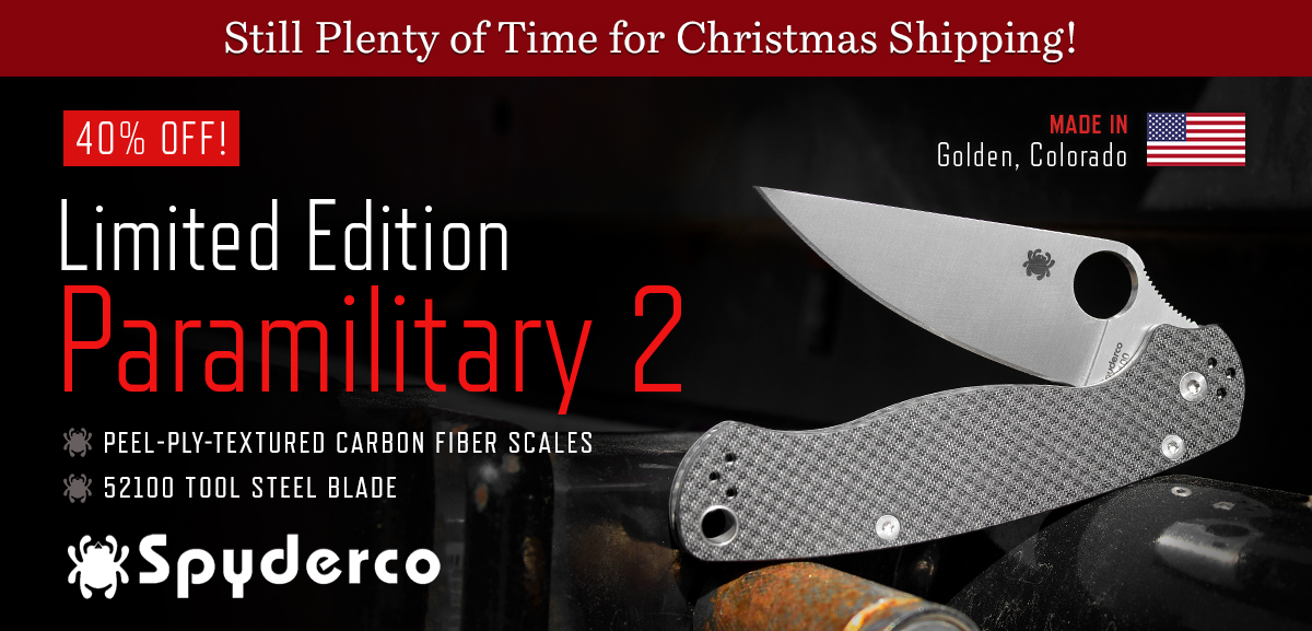 Limited Edition Spyderco Paramilitary 2