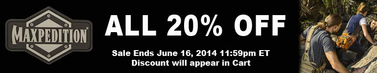 20pct Off All Maxpedition Sale