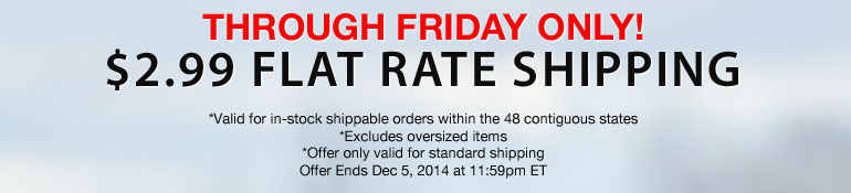 2.99 Flat Rate Shipping - US Only